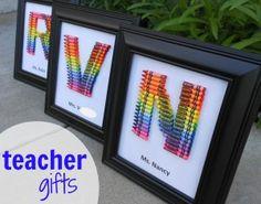 teacher gift… crayon monogram