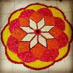 Rangoli Designs Flower, Flower Rangoli, Pencil Drawings Of Flowers, Festival Decorations, Diwali, Tree Skirts, Christmas Tree, Holiday Decor, Festive