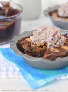 Peanut Butter Chocolate Chip Cookie Pie | Community Post: 16 Scrumptious Chocolate Peanut Butter Recipes