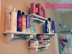 hair product storage system!