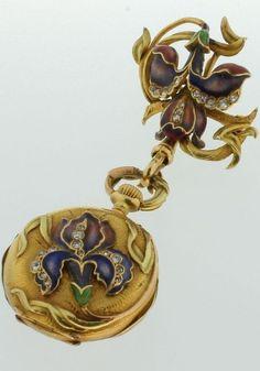 Vintage 18K Yellow Gold Art Nouveau Ladies Corsage Watch.