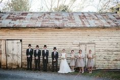 Visit http://dodsonorchards.com Southern Highlands Vintage DIY Wedding - The Top Hats at a Barn Wedding = #Awesometown