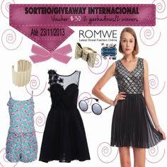 Tricotando a Vida: Sorteio/Giveaway Internacional Voucher $30 #Romwe