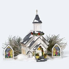 """Department 56: Products - """"Silent Night Church"""" - View Lighted Buildings"""