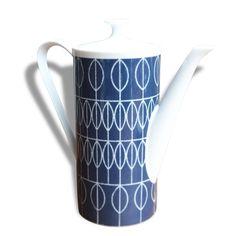 Théière art déco à motifs - Céramique, porcelaine & faïence - Bon état - Scandinave - 56819