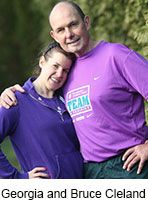 A Father and Daughter's Race to Beat Leukemia--Bruce Cleland, the man behind the idea of runs to raise money for research, recalls his child's battle with blood cancer