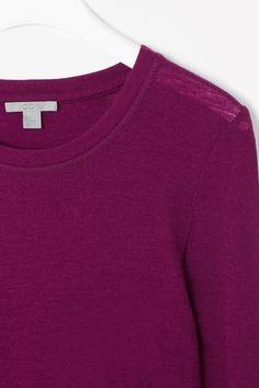 Fine wool jersey top