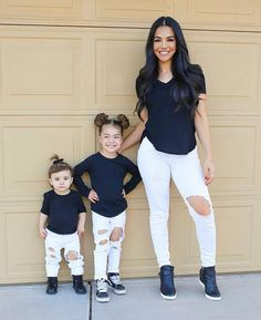 Image may contain: 3 people, people standing, shoes and indoor Mom Daughter Matching Outfits, Mommy And Me Outfits, Matching Family Outfits, Cute Summer Outfits, Kids Outfits, Mother Daughter Fashion, Leder Outfits, Little Girl Fashion, My Girl