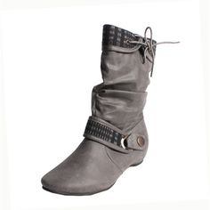 These boots feature a chic slouchy upper and ankle buckle.  http://www.overstock.com/Clothing-Shoes/Blossom-by-Beston-Womens-Amar-27-Mid-calf-Boots/7278356/product.html?CID=214117 $37.04