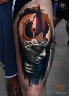 Bulb Head Abstract Piece | Best tattoo ideas & designs