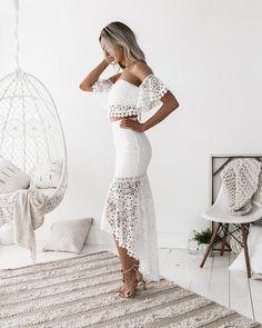 The Celine Lace Set in White // Best Seller Alert // Nouveau Riche Boutique #summer #white lace #outfits