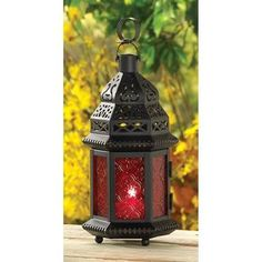 Red Glass Moroccan Lanter... - AC Treasures | Scott's Marketplace