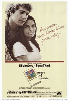 Love Story is a romantic drama film written by Erich Segal, who also authored the best-selling novel of the same name. It was directed by Arthur Hiller and starred Ryan O'Neal and Ali MacGraw. Ryan O'neal, Ali Macgraw, Old Movies, Great Movies, Popular Movies, Love Story Movie, Guzzi V7, Tommy Lee Jones, Film Strip
