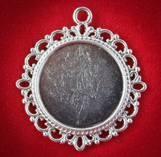 6 Round BEAUTIFUL Decorative Blank Pendant by perfectpendantsplus, $5.95