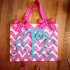 Monogrammed canvas. Cute for dorms or any girl room