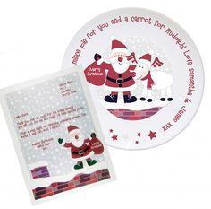 Personalised Santa Rooftop Mince Pie Plate