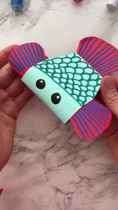 Fish Crafts, Cute Crafts, Diy For Kids, Crafts For Kids, Arts And Crafts, Creative Kids, Creative Crafts, Old Book Crafts, Early Childhood Activities