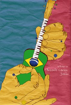 Antonio Carlos Jobim tribute illustration