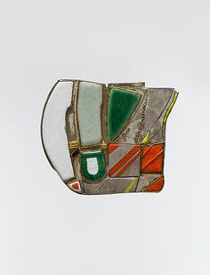 Brooch Designer: Hermann Jünger (German, Hanau Pöring) Date: ca… Contemporary Jewellery, Modern Jewelry, Vintage Jewelry, Enamel Jewelry, Jewelry Art, Jewelry Design, Diamond Jewellery, Arte Popular, Schmuck Design