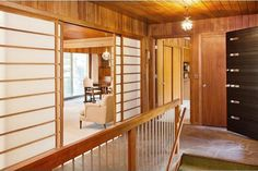 1957 Minnesota time capsule house — Shoji screens, chinoiserie lighting and more mid century modern Asian inspired details