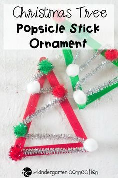 How For Making Candles In Your House - Solitary Interest Or Relatives Affair This Adorable Christmas Tree Popsicle Stick Ornament Is So Simple To Make And Is A Great Kid Ornament To Create In The Classroom Kindergarten Christmas Crafts, Christmas Arts And Crafts, Christmas Activities For Kids, Classroom Crafts, In Kindergarten, Preschool Crafts, Holiday Crafts, Christmas Projects For Kids, Classroom Ideas
