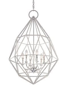 F2942/6SLV,6 - Light Marquise Chandelier,Silver