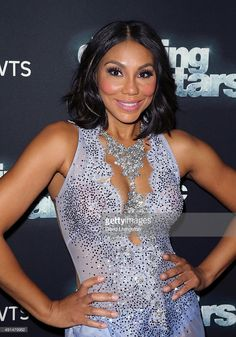 Singer/TV personality Tamar Braxton attends 'Dancing with the Stars' Season 21 at CBS Televison City on October 5, 2015 in Los Angeles, California.