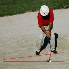 front view of basic sand shot setup position - Marty Fleckman