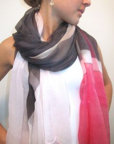 silk chiffon colorbloc