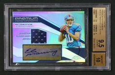 Eli Manning Topps Chrome Jersey Autograph BGS 9.5 #EliManning #Collect #Up4auction