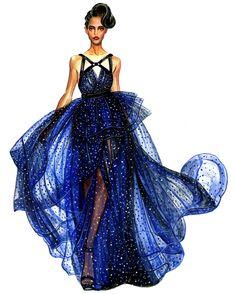 Fashion Illustration - Jason Wu Girl by Sunny Gu Illustration Mode, Fashion Illustration Sketches, Fashion Sketchbook, Fashion Design Sketches, Fashion Designers, Moda Fashion, Fashion Art, Fashion Beauty, Dress Fashion
