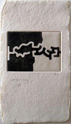 Eduardo Chillida (1924-2002), Lasaitasun, 1983. Etching. Plate size: 12cm H x 21cm W. Sheet size; 8.7cm H x 6.5cm W. Edition of 61 copies.