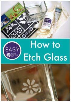 How to Etch Glass Tu