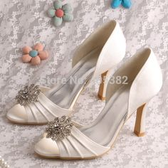 Cheap shoes for small people, Buy Quality wedding platform shoes directly from China wedding shoes size 10 Suppliers:          Wedopus High Heel Crystal Beaded Wedding Shoes Luxury White with Rhinestone Flower DropshipUSD 47.9