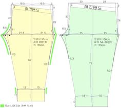 trouser with frontier pocket pattern