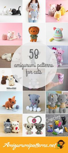 Amigurumipatterns.net has the largest collection of free and premium Cats amigurumi patterns. Click now and discover wonderful crochet patterns!