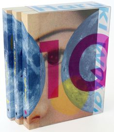 Three volume boxed set for 1Q84 by Haruki Murakami, published by Vintage Books, designed by John Gall.