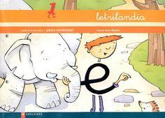 """Recursos didácticos para imprimir, ver, leer: """"Letrilandia"""". Cuaderno de Escritura 1."""
