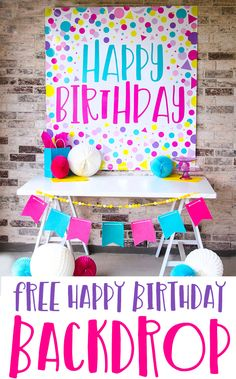 Polka Dot Birthday Backdrop Colorful Birthday Party Ideas by Lindi Haws of Love The Day Diy Birthday Sign, Happy Birthday Signs, Birthday Backdrop, Birthday Cards, 12th Birthday, Birthday Decorations, Colorful Birthday Party, Polka Dot Birthday, Stocking Stuffers For Men