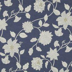 Botanic Flora Indigo by Robert Allen Fabric - Fabric Carolina