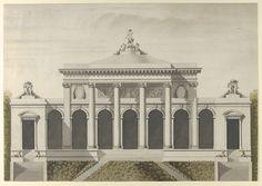 After Etienne Louis Boullée | Elevation for the Garden-Front of the Hotel de Brunoy, Faubourg St. Honoré, Paris | The Metropolitan Museum of Art