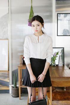 Lace Sleeve Pattern Blouse