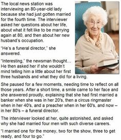 80 year old woman marries for the 4th time