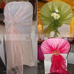 Wedding party banquet chair organza sash bow decor 79 x could tie any style as you like with the big size Organza chair sash,making your wedding quite different from others and leaving your guests an unforgetable memory. Best Friend Wedding, Sister Wedding, Dream Wedding, Wedding Stuff, Wedding Inspiration, Wedding Ideas, Wedding Fun, Diy Wedding Projects, Wedding Chairs
