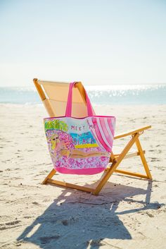 Lilly Pulitzer Beach Tote Bag- Meet Me at the Beach!