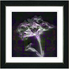"""Purple Floral Montage"" by Zhee Singer Framed Fine Art Giclee Painting Print   Wayfair"