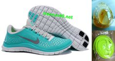 Mens Nike Free 3.0 V4 New Green Reflect Silver Pure Platinum Shoes