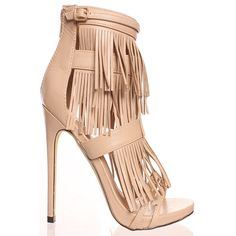 LolliCouture nude fringe material look back zipper open toe high heels ($28) ❤ liked on Polyvore featuring shoes, pumps, nude, platform pumps, buckle shoes, nude platform pumps, nude platform shoes and high heel platform pumps