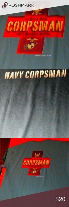 Navy Corpsman U. Navy Corpsman on back To Hell & Back Corpsman For A Wounded Marine Gildan Shirts Tees - Short Sleeve Navy Corpsman, Tee Shirts, Tees, Us Navy, Man Shop, Sleeve, Closet, Things To Sell, Manga