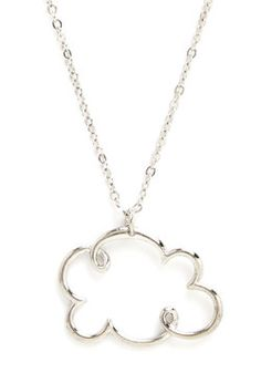 Coveting Cumulus Necklace. You relish the light breeze and cool tones of an overcast day, especially when wearing this silver cloud necklace!  #modcloth